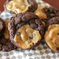 Gluten Free Chocolate Chocolate Chip Swirl Cookies