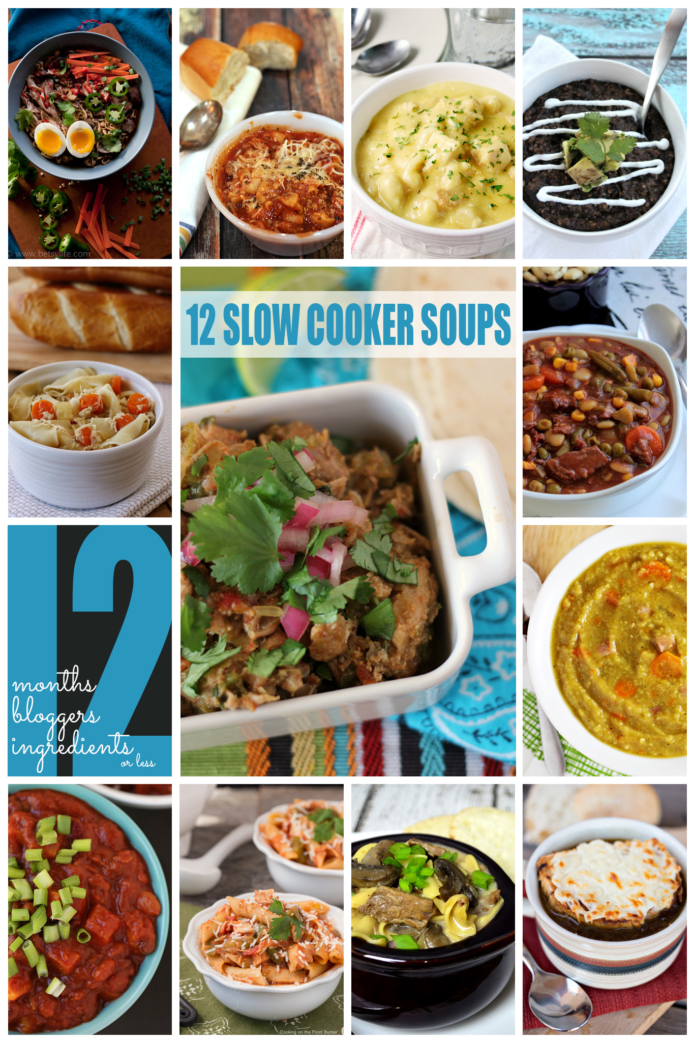 12 Slow Cooker Soups by #12Bloggers