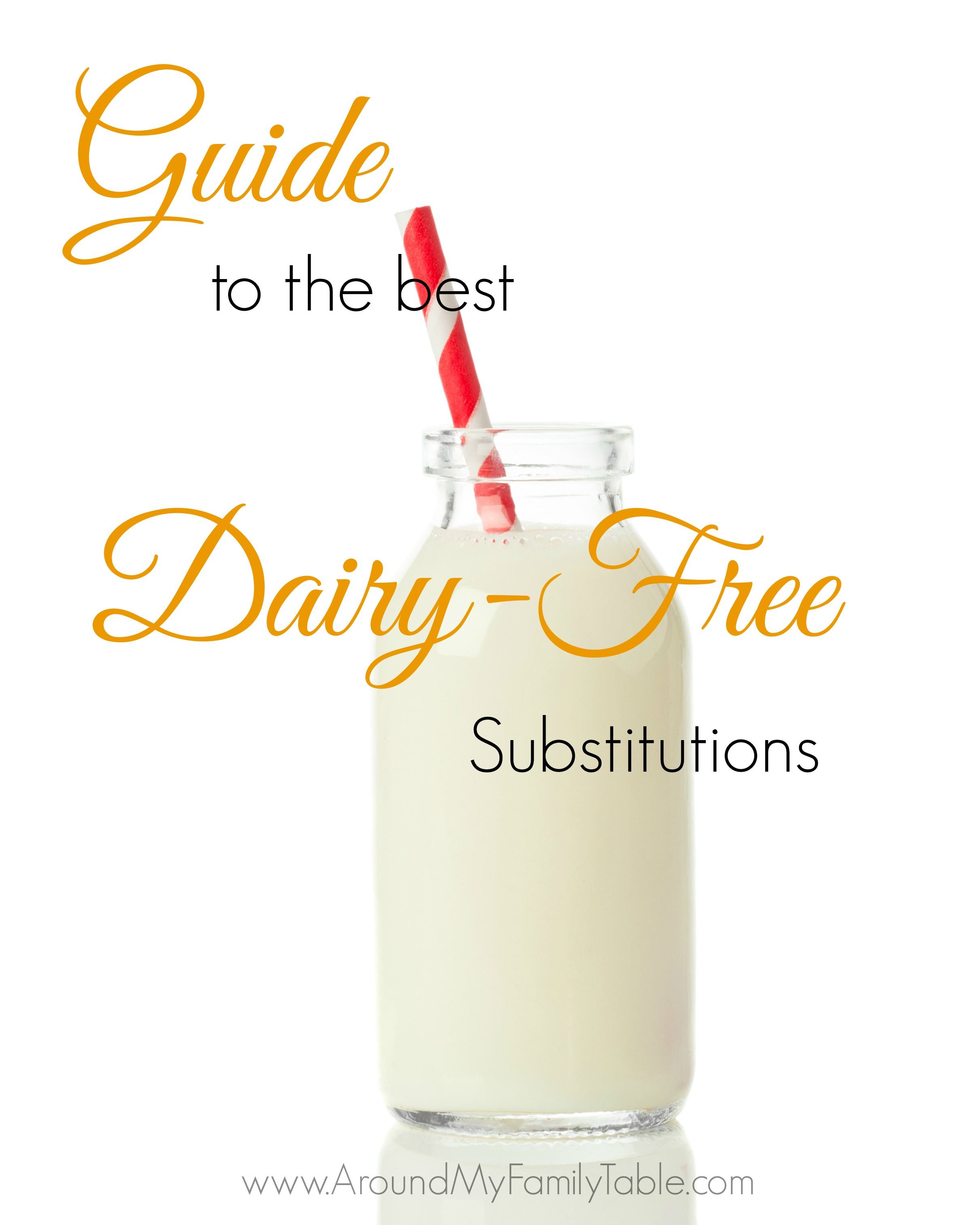 Guide to the best Dairy Free Substitutions