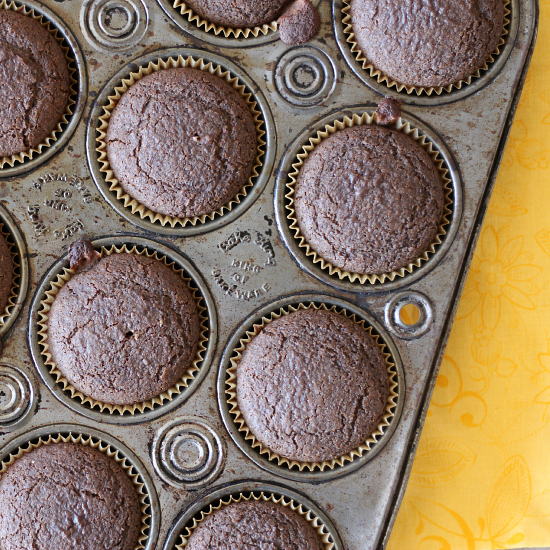 I love these easy and delicious Gluten Free Chocolate Muffins that are low in fat and so will you!