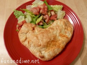 Heart Shaped Calzones - funonadime.net