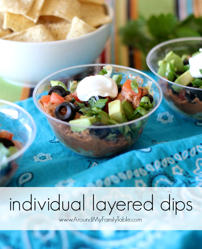 individual layered dips...perfect for parties!