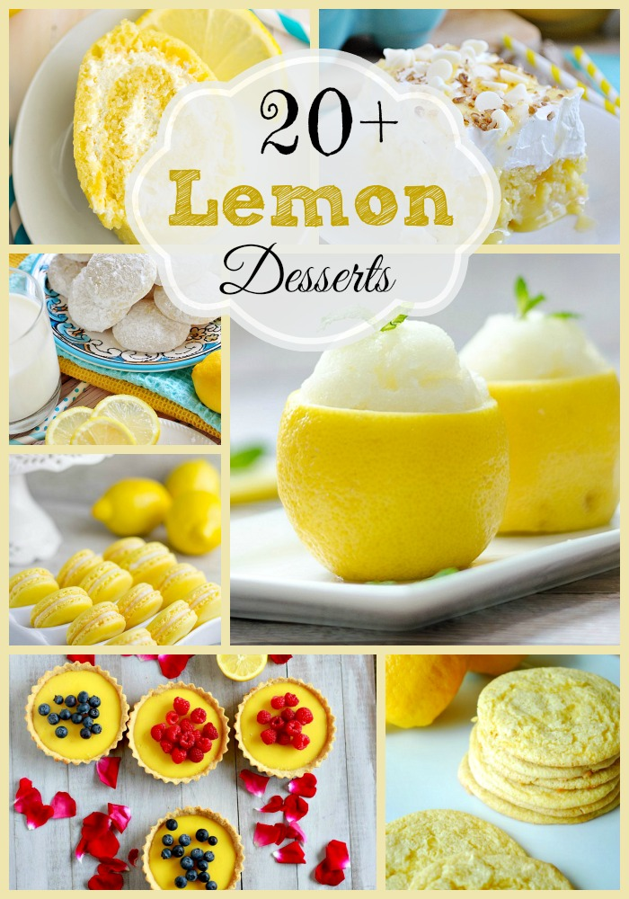 20+ Lemon Desserts that are totally worth the pucker!