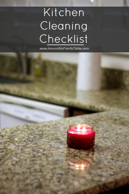 Kitchen Cleaning Checklist (daily, weekly, & monthly tasks...all on one sheet)