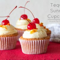 Tequila Sunrise Cupcakes with Tequila Orange Buttercream