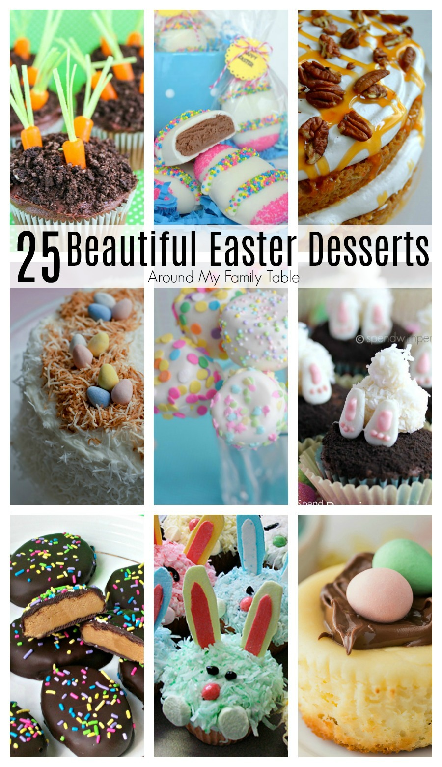 These 25 Easter Desserts are sure to inspire you to make something delicious for your family. They are the most beautiful Easter dessert recipes that you will find!