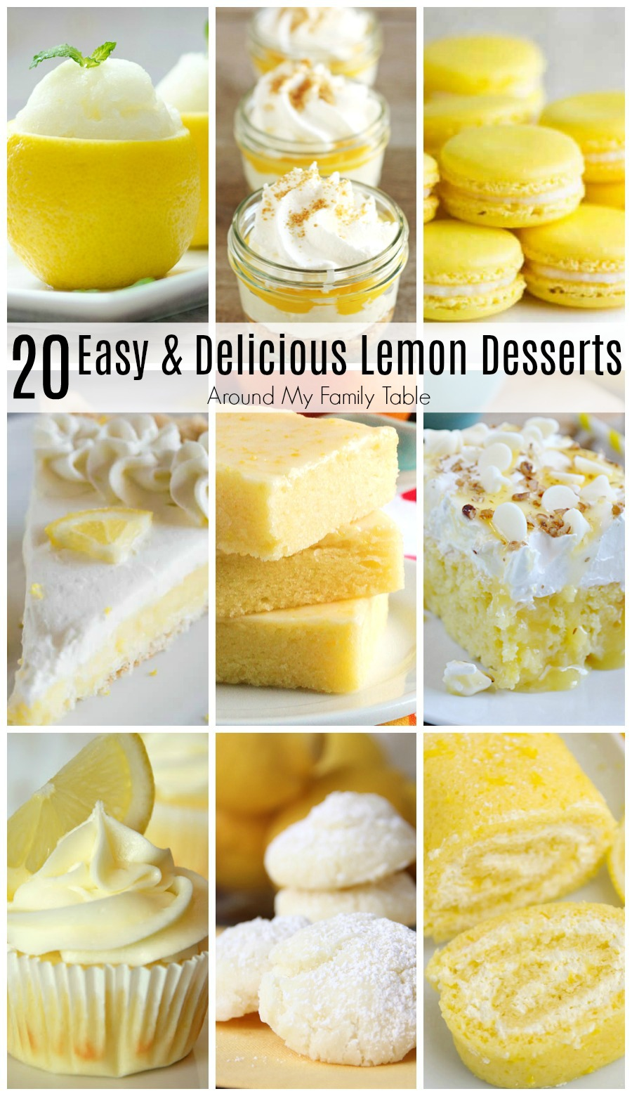 You know you want to try one of these 20 Easy and Delicious Lemon Desserts...theyare totally worth the pucker!