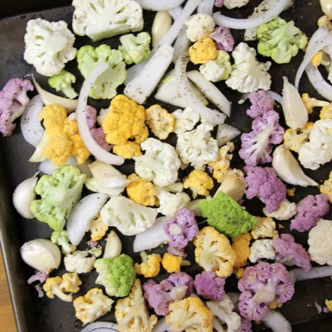 Colorful Roasted Cauliflower
