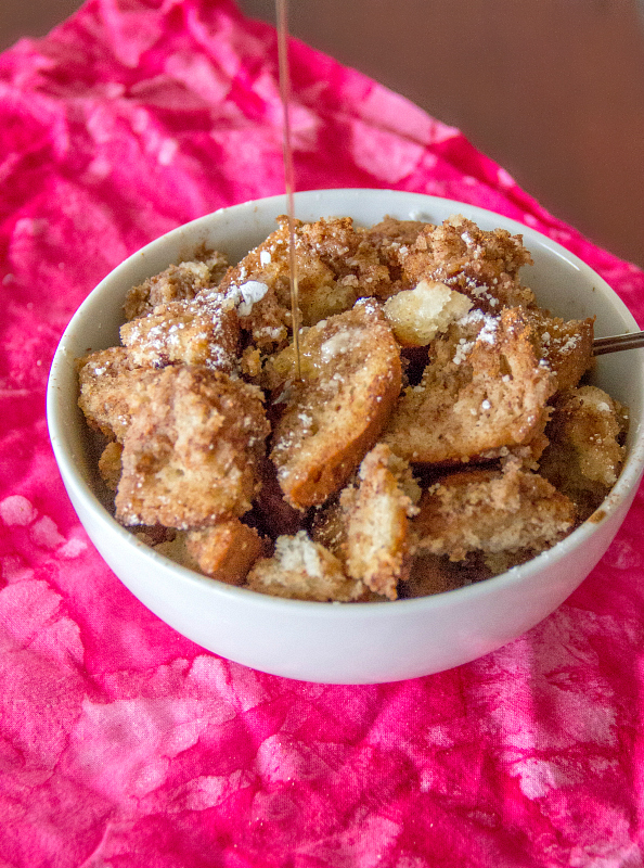 In about 2 hours, this Slow Cooker French Toast Casserole is ready for late breakfast or brunch!