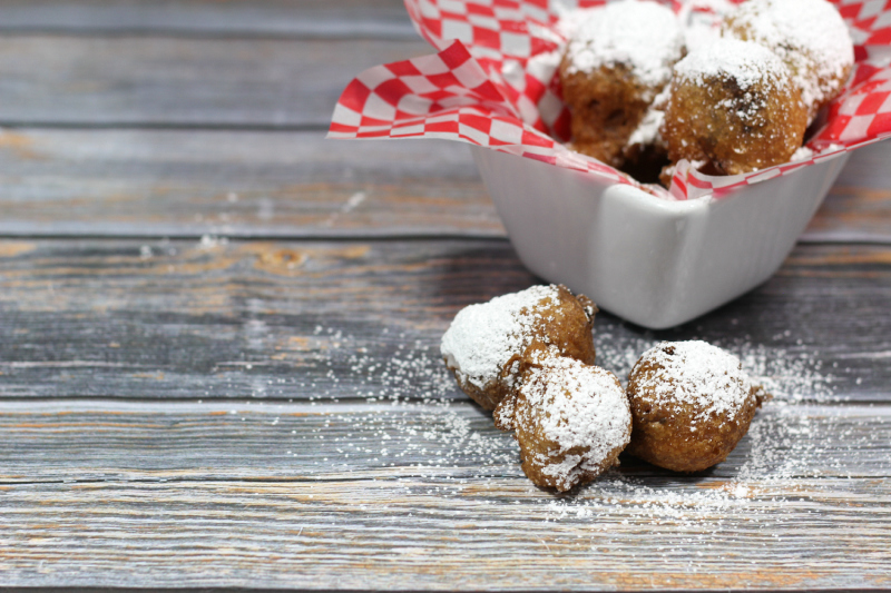 Grab your jar of Nutella and your fryer and whip up these fun state fair inspired Nutella Fritters