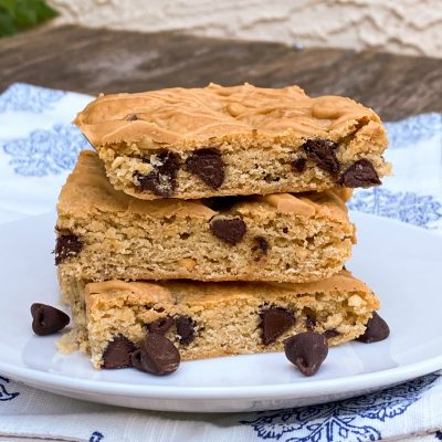 Peanut Butter Banana Cookie Bars