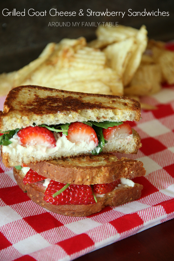 Put down the cheddar and heat up the frying pan! Grab some goat cheese and make up a few of these bad boys.  Now, go eat a Grilled Strawberry & Goat Cheese Sandwich.