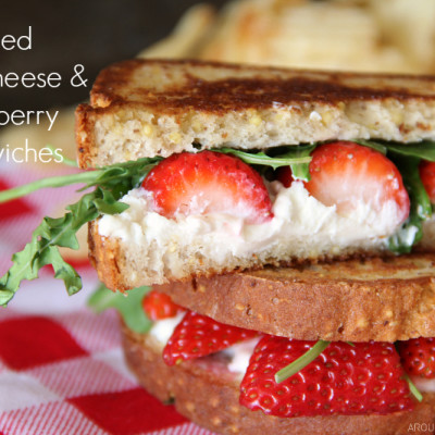 Grilled Strawberry & Goat Cheese Sandwich