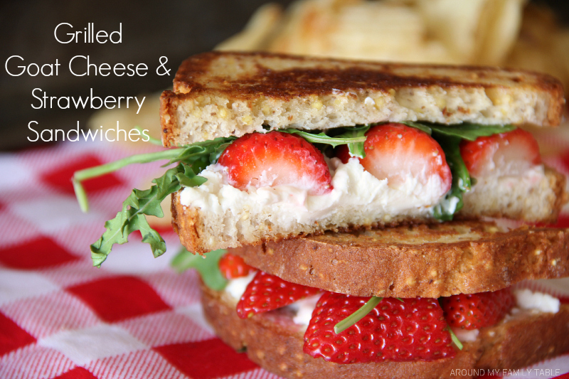 Grilled Goat Cheese & Strawberry Sandwiches