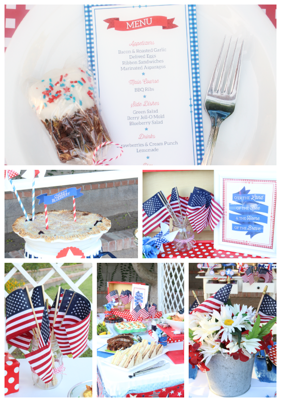 The 4th of July is one of my favorite holidays. I just love the colors and of course summertime is the best.  So, it's no surprise that I go into full party mode with these 4th of July Party decoration and food ideas. #4thofjulyparty #fourthofjulyparty #4thofjulybbq