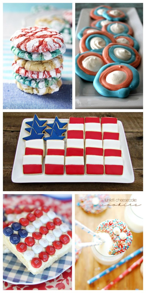 ~No Fail 4th of July Red, White & Blue Cookies