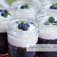 Layered Blueberry Jello Salad