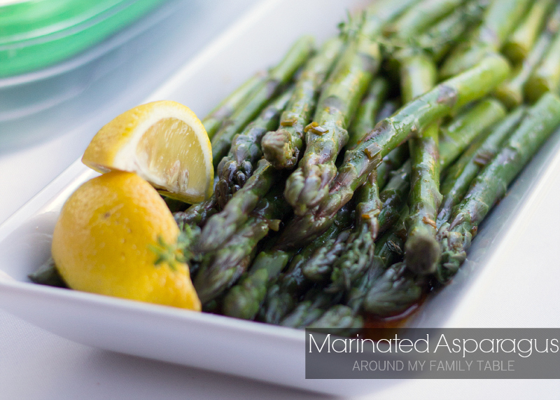 Marinated Asparagus is best served cold or at room temperature, so it's perfect for cookouts, potlucks, and summer!  The asparagus is perfectly seasoned with the help of a herbed lemon sauce that is to-die-for!