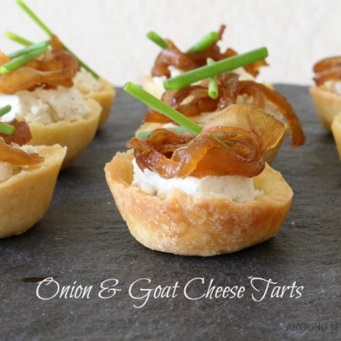 Sweet Onion and Goat Cheese Tarts are easy and delicious. They make a perfect appetizer.