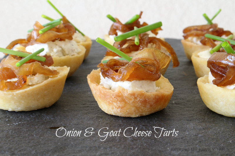Sweet Onion & Goat Cheese Tarts are easy and delicious. They make a perfect appetizer.