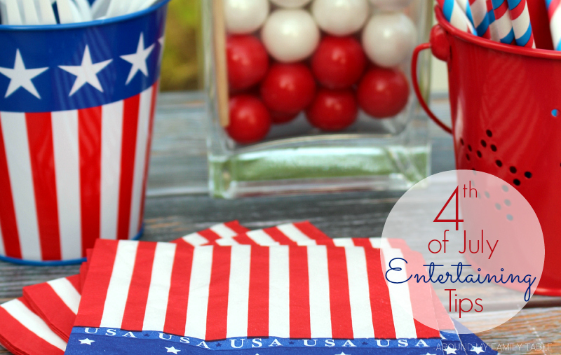 Invite your friends and family over for a fun and festive 4th of July Party. These 4th of July Entertaining Tips are all you need for a fun holiday party!