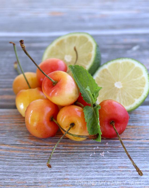 fresh summer cherries
