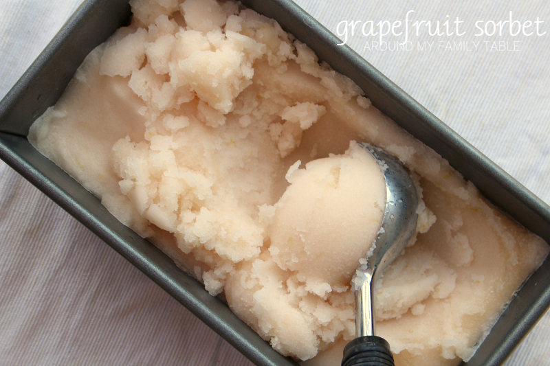 This Grapefruit Sorbet is full of so much grapefruit flavor. It's refreshing, tart, & sweet all at the same time.