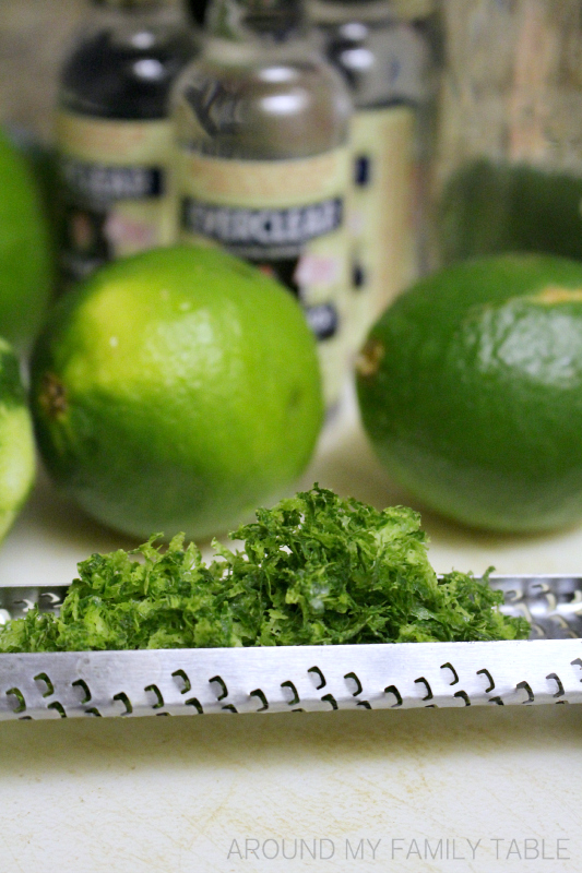 Homemade Limecello...it's easy to make and perfect for sipping or adding to drinks.