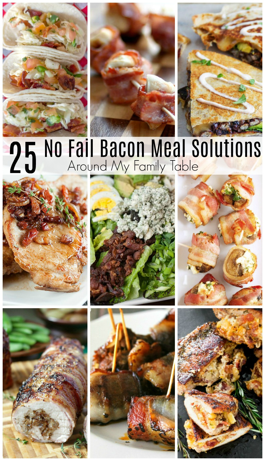 Bacon lovers take note!  Your favorite breakfast meat isn't just for breakfast anymore!  It can be used to in lots of different ways. Think beyond a traditional BLT sandwich for a bacon-inspired supper with these 25 Best Bacon Recipes.