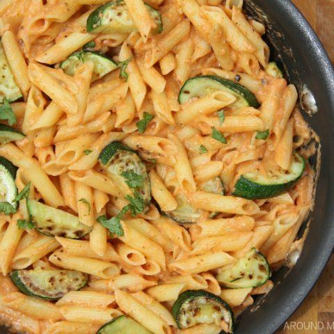 Baked Pasta with Sriracha Cream and Zucchini
