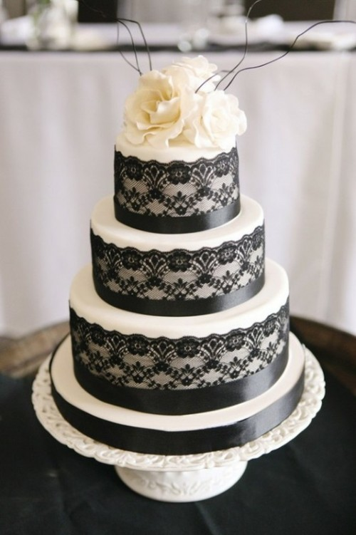 Lace Wedding Cake