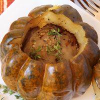Crockpot Potato Stuffed Squash