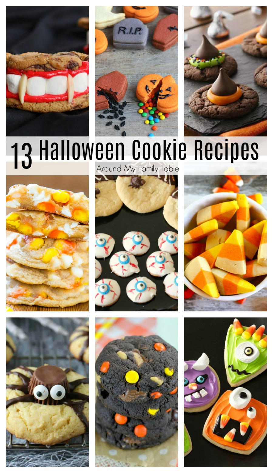 These are the perfect Halloween Cookie Recipes for your October parties and get togethers!