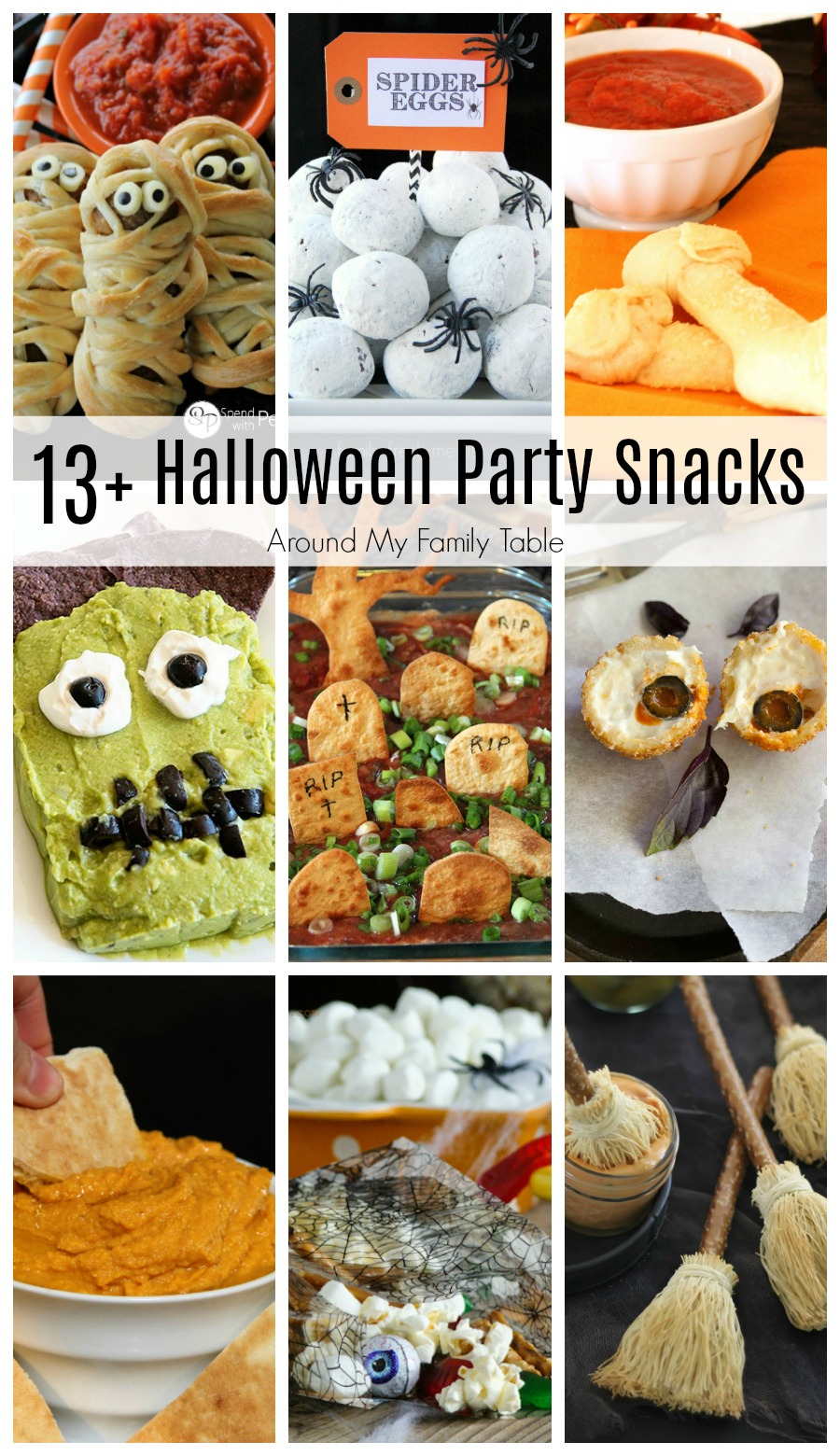 Are you planning a Halloween party or a playdate for the kids this year?  It's the perfect time to stir up some fun with these 13 incredible and crowd-pleasing Halloween Party Snacks that have loads of flavor!