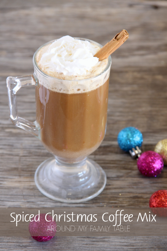 This Spiced Christmas Coffee Mix is the perfect blend of coffee, powdered milk, and sugars.