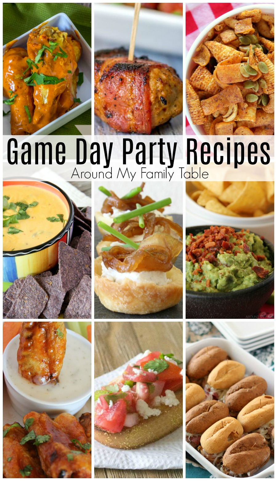 The best Game Day Party Recipes are here just in time for the biggest game of the year.No party is complete without a wide assortment of delicious food that will keep the gang headed back to the kitchen for more. These are the recipes that my friends ask me to make over and over again for our parties. #gameday #superbowl
