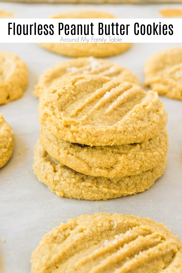 titled image (and shown) flourless peanut butter cookies