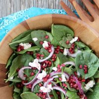 Pomegranate and Goat Cheese Salad