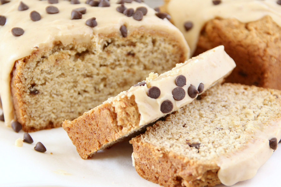 Quick breads are comfort food and this Chocolate Chip Peanut Butter Banana Bread with Peanut Butter frosting will quickly become a family favorite in your home.