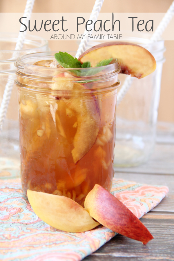 Sip on this Sweet Peach Iced Tea this summer while you lounge by the pool. You'll have no regrets plus it's packed with tons of peaches with a hint of sweetness.