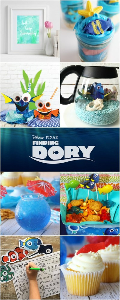 Check out all these fun Dory-inspired ideas. Perfect for a Finding Dory Party!