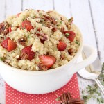 Sweet Strawberry & Pecan Quinoa Salad