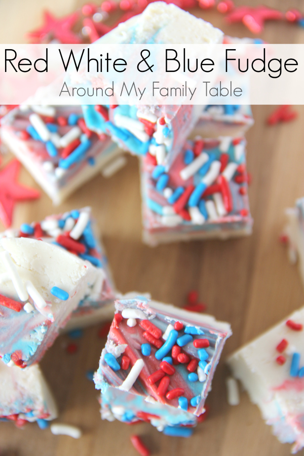 Celebrate summer with a delicious White Chocolate Fudge. The festive Red, White, & Blue Fudge has only a couple ingredients and takes less than 5 minutes.