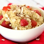Honey and Strawberry Almond Quinoa