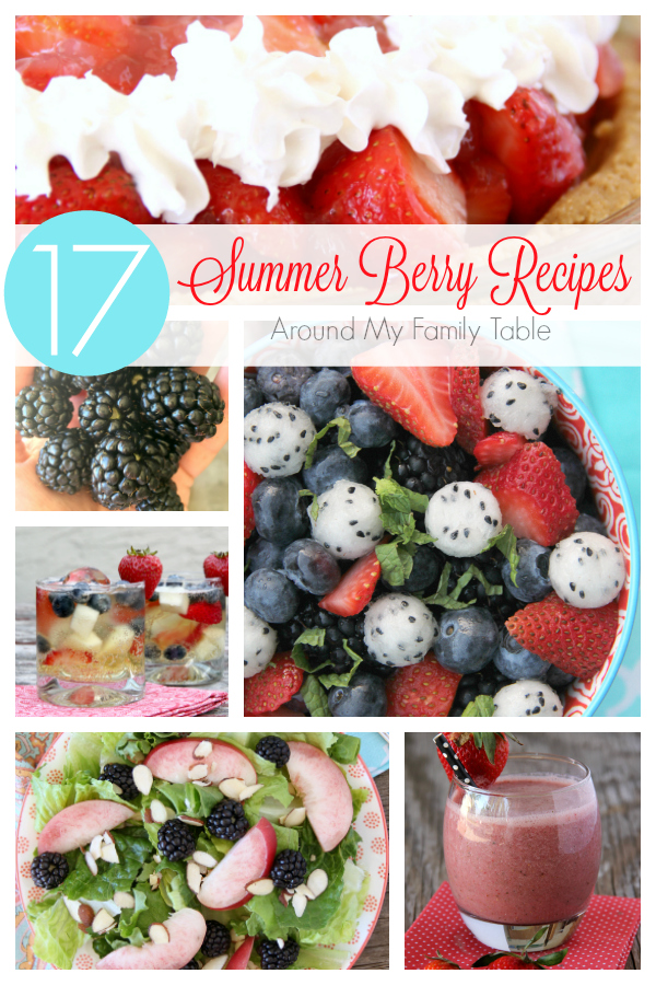 Summer is berry season! I've got 17 Summer Berry Recipes that you have to try this year.