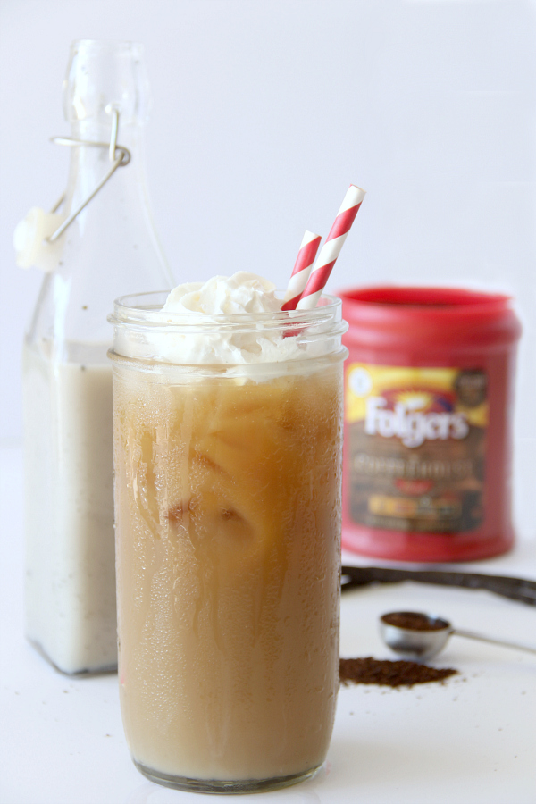 This sweet and bold Iced Vanilla Bean Coffee is the perfect pick-me-up on a hot day.