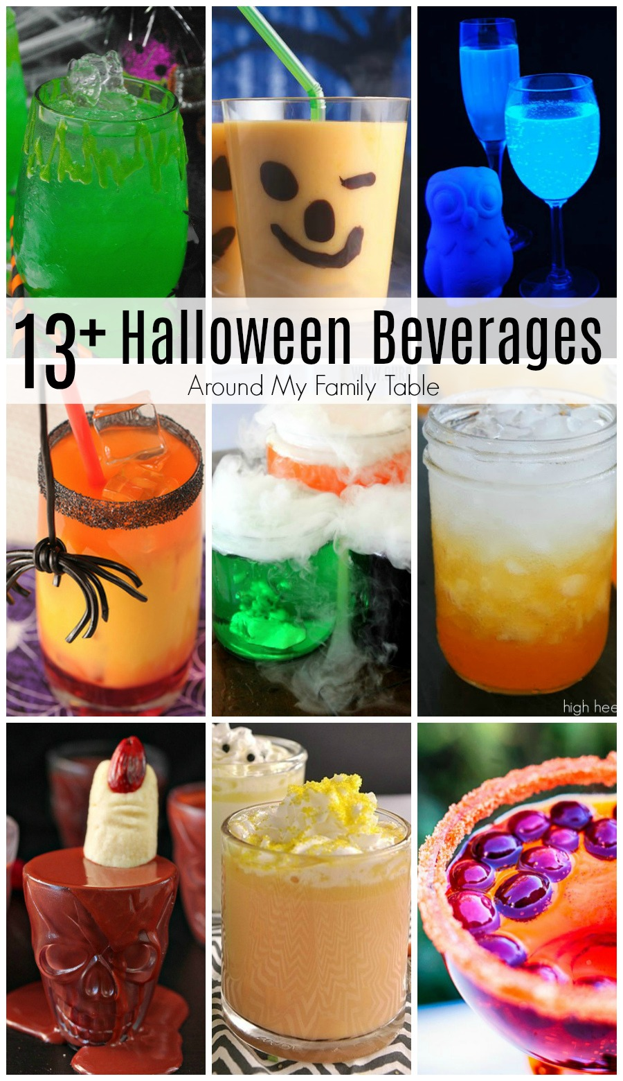 Halloween is almost here, and it's time to celebrate with over 13 Halloween Beverage Recipesthat are perfect to punch up your party!