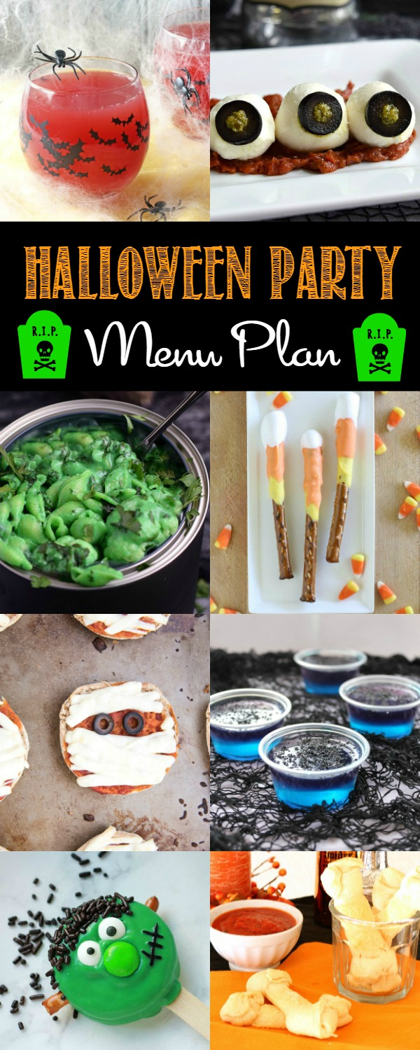This Spooky Halloween Party Menu is sure to bring out all the ghosts and goblins for your party!