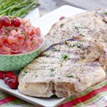 Grilled Pork Chops with Cranberry Applesauce