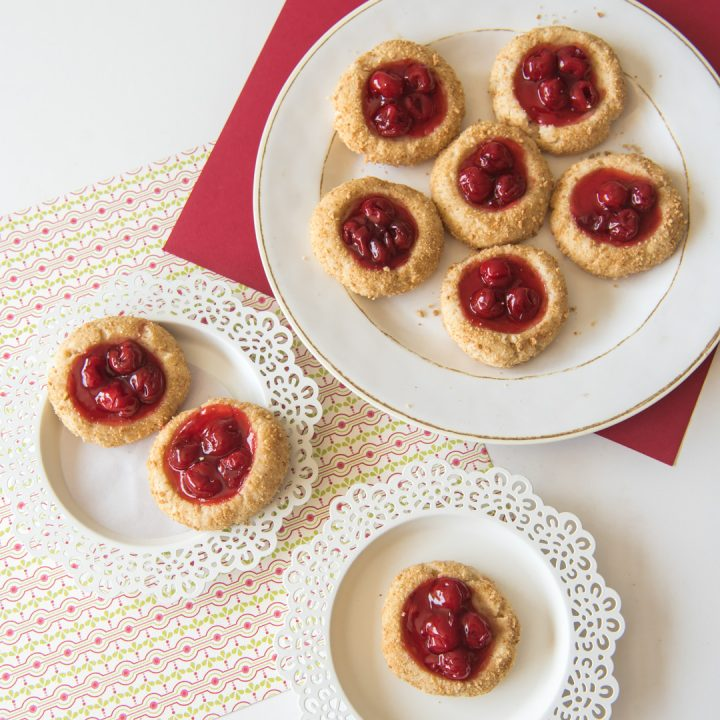 These delicious Cherry Cheesecake Cookies are a simple cookie twist on a classic Christmas dessert.